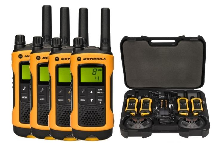 Motorola T80 EXTREME QUAD short-wave radio, 10 km, Black-Yellow