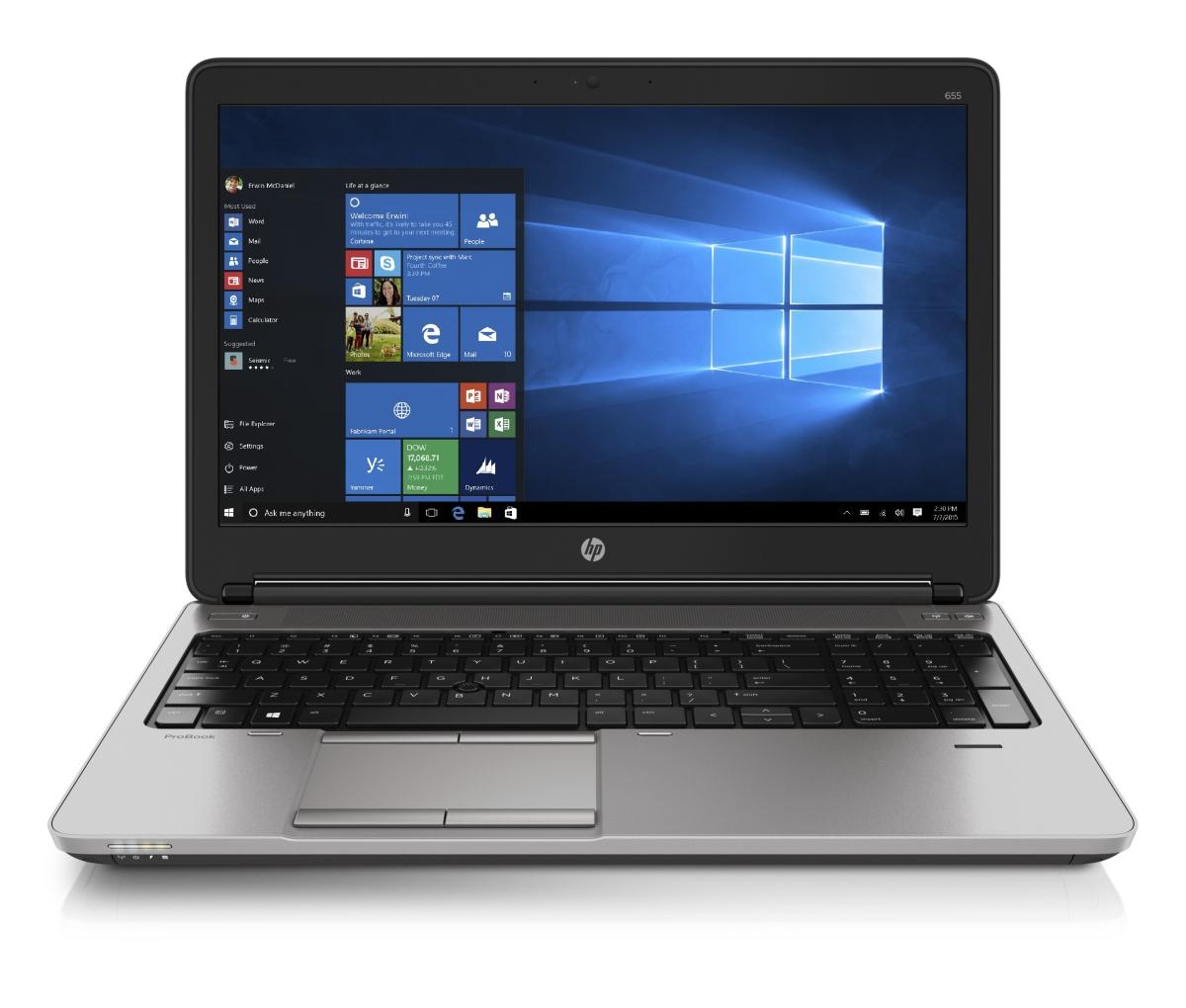 HP ProBook 655 G1 A10-5750M / 8GB / 256 GB SSD / 15,6'' FHD / Win 10 PRO + Win 7 PRO