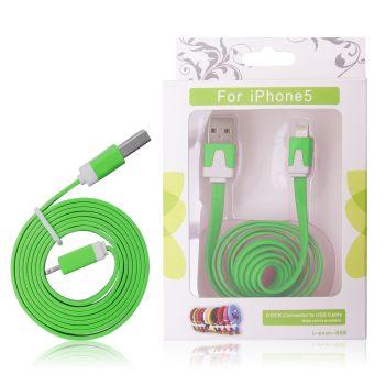 GT kabel USB pro iPhone 5 zelený