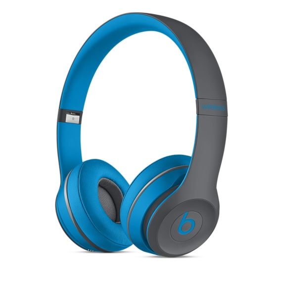 Apple Beats by Dr. Dre Solo 2 Wireless On-Ear Headphones Active Collection - Blue