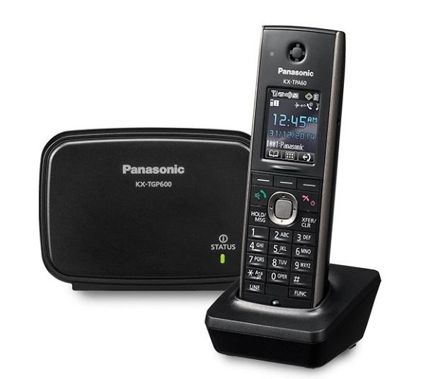 """Panasonic KX-TGP600CEB [IP telefon, DECT, 8xSIP účet , 1xLAN, PoE, 1.8"""" displej, černá barva]"""