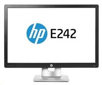 HP EliteDisplay E242 / 24'' IPS / 1920x1200 / 1000:1 / 7ms / 250 cd / VGA, DP, HDMI, USB / 3/3/0