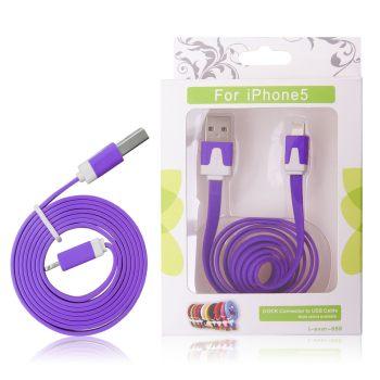 GT kabel USB pro iPhone 5 nachový