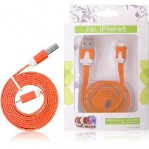 GT kabel USB pro iPhone 5 oranžový