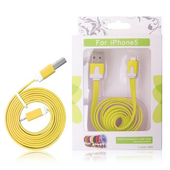 GT kabel USB pro iPhone 5 žlutý