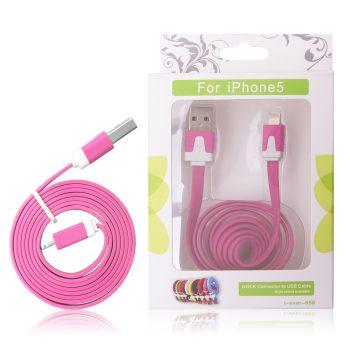 GT kabel USB pro iPhone 5 růžový