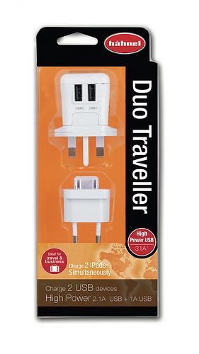 Hähnel Duo Traveller - cestovní nabíječka s 2 USB výstupy