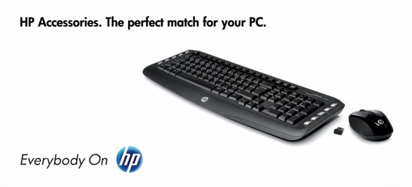 HP set klávesnice a myši, bezdrátová, SK