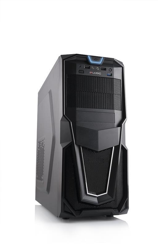 LOGIC PC skříň B26 USB 3.0 x 1 / USB 2.0 x 2 / HD AUDIO zdroj Logic 600W