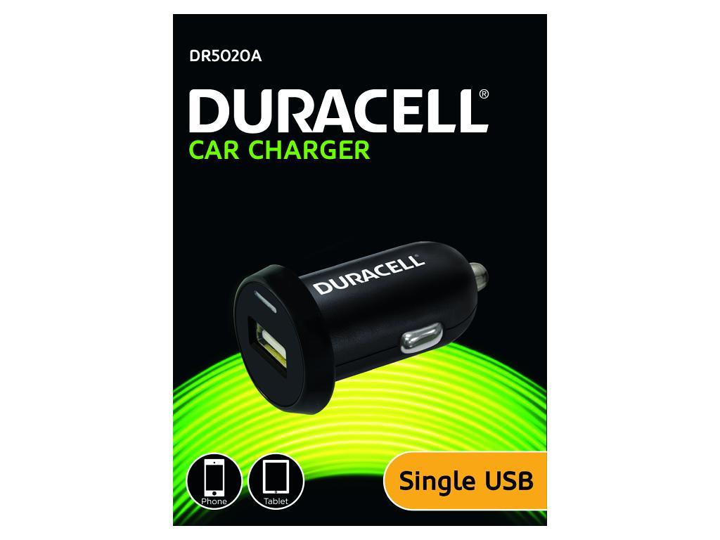 Duracell - USB Auto-nabíječka černá