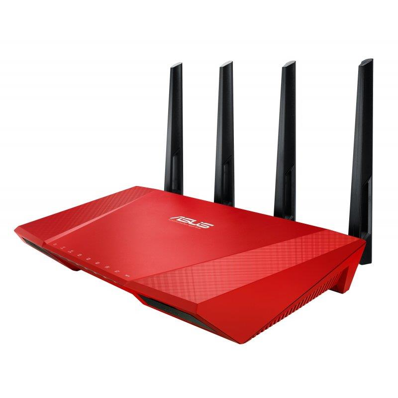 Asus RT-AC87U Wireless AC2400 Dual-band Gigabit Router RED