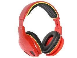 Tracer JUMBO BT bezdrátová sluchátka s mikrofonem, Bluetooth 2,1, červená
