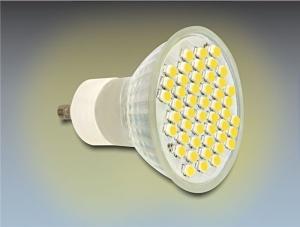 Delock LED GU10 48x SMD, teplá bílá , 3.0W/210 lumen