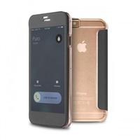 Puro pouzdro s aktivním dotykovým flipem Sense Booklet Quick View pro iPhone 6, transparentní
