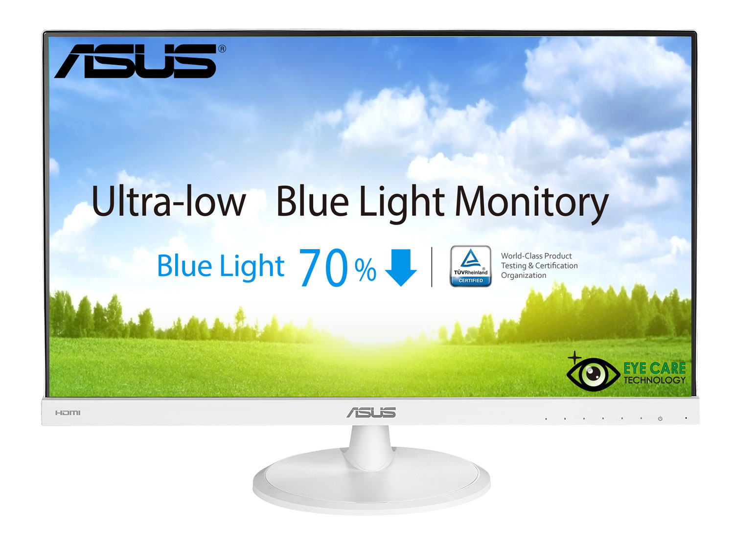 "23"" LED ASUS VC239H-W - Full HD, 16:9, HDMI, VGA, DVI, bílý"