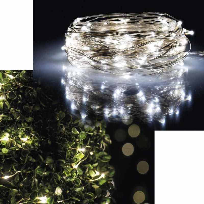 Emos LED dekorační osvětlení Nano, 100 LED, 10m, IP44, denní bílá