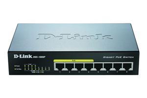 D-Link DGS-1008P/E 8-port 10/100/1000 Desktop Switch w/ 4 PoE Ports