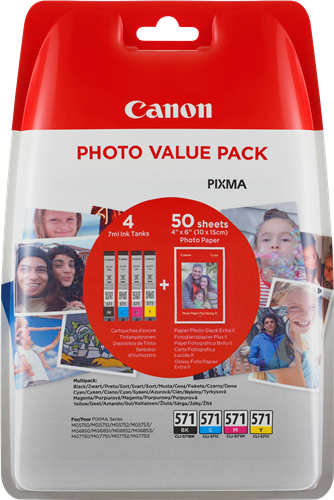 Canon cartridge CLI-571 C/M/Y/BK PHOTO VALUE pack