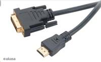 AKASA - DVI-D na HDMI kabel - 2 m