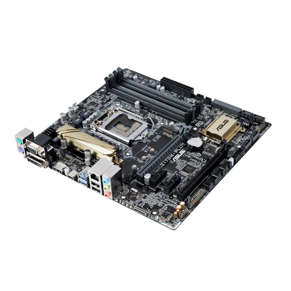 ASUS Z170M-PLUS, Z170, QuadDDR4-2133, SATAe, SATA3, HDMI, DVI, mATX