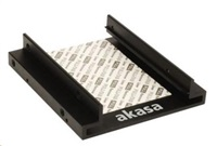 """AKASA Montážní kit pro 2,5"""" HDD do 3,5"""" pozice, 2x 2,5"""" HDD/SSD, černý hliník"""