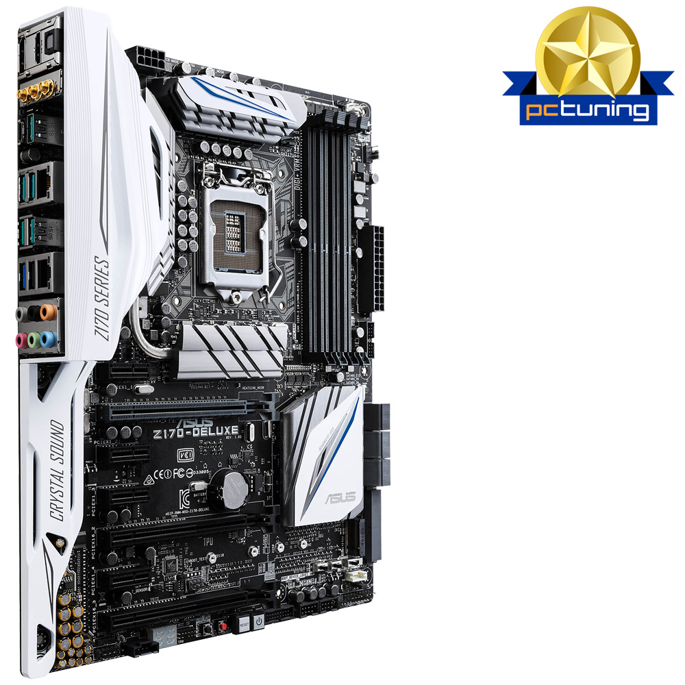 ASUS Z170-DELUXE, s.1151, Z170, 4xDDR4, PCIe 3.0x16, SATAIII, M.2, HDMI/DVI-D, GLAN, USB3.1, ATX