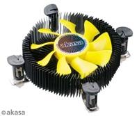 AKASA Chladič CPU AK-CC7118HP01 K25 pro Intel LGA 775 a 115x, 75mm PWM ventilátor, pro mini ITX a micro ATX skříně