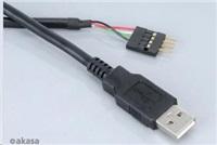 AKASA kabelredukce interní USB na externí USB (Type - M), USB 2.0, 40cm