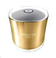 CREATIVE repro WOOF3 autumn gold (bluetooth zlaté, jack, USB, SD karta)