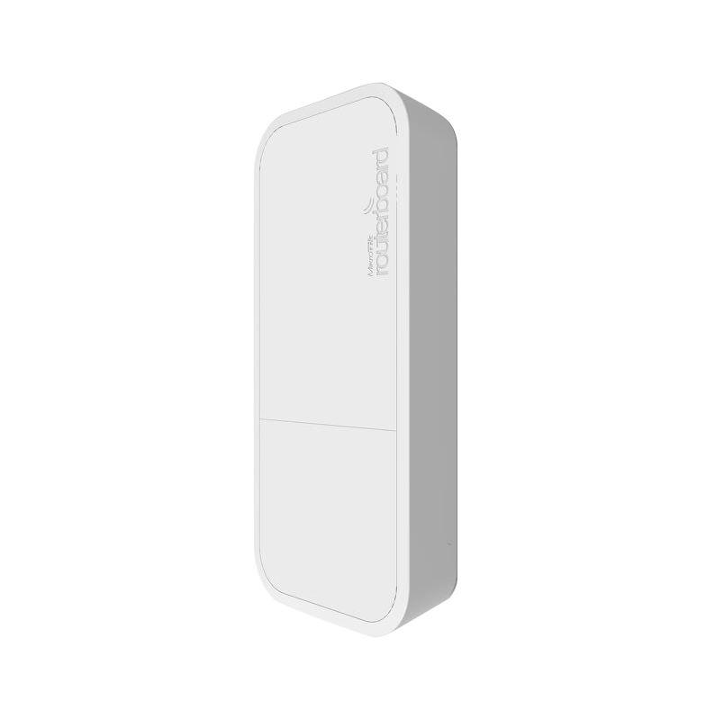 MikroTik RouterBOARD wAP, white, 650MHz CPU, 64MB RAM, 1x LAN, integr. 2.4GHz Wi-Fi, 2x2MIMO, 2dBi anténa, vč. L4