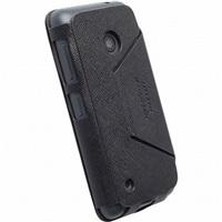 Krusell flipové polohovací pouzdro MALMÖ FLIPCASE STAND pro Nokia Lumia 530, černá