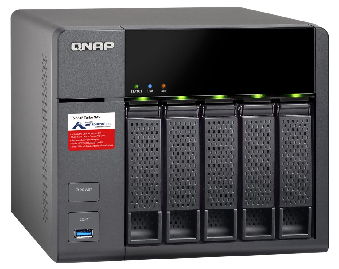 QNAP TS-531P-2G (1,4G/2GB RAM/5xSATA/4xGLAN)