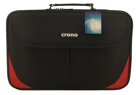 "Crono Trend - taška na notebook 15.6"", černá + červená"