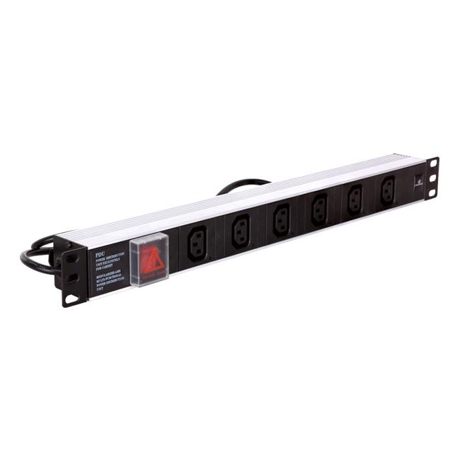 Linkbasic power bar 1U for 19'' rack cabinets - 6 outlets C13