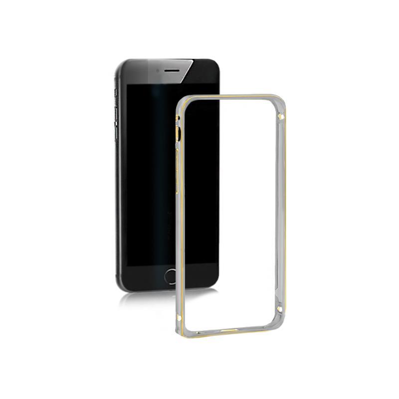 Qoltec Aluminum case for Samsung Galaxy S6 edge | gray