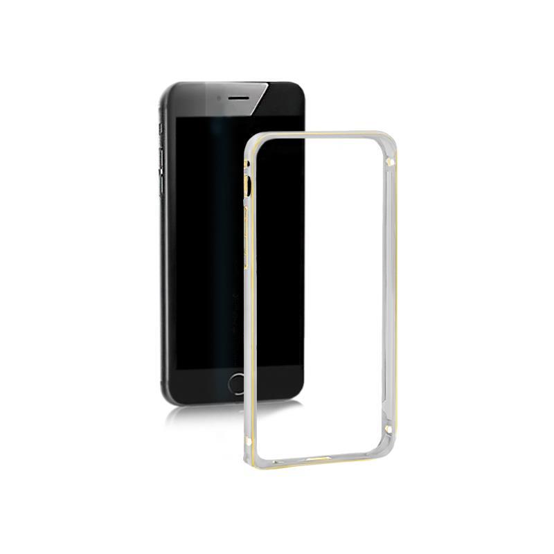 Qoltec Aluminum case for Samsung Galaxy S6 edge | silver