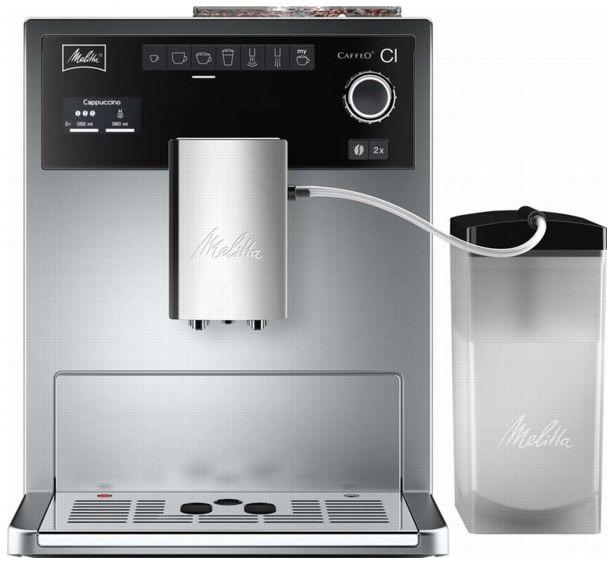 Kávovar Melitta E 970-101 Caffeo CI, stříbrný/černý