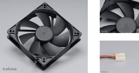 přídavný ventilátor Akasa 120x120x25 - OEM