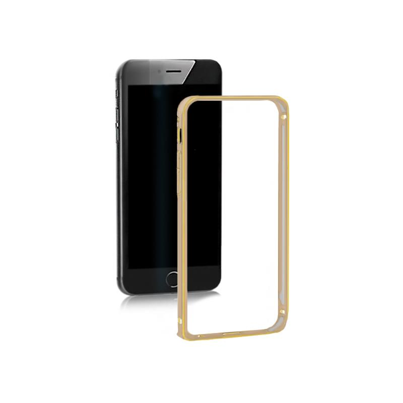Qoltec Aluminum case for Samsung Galaxy S6 edge | gold