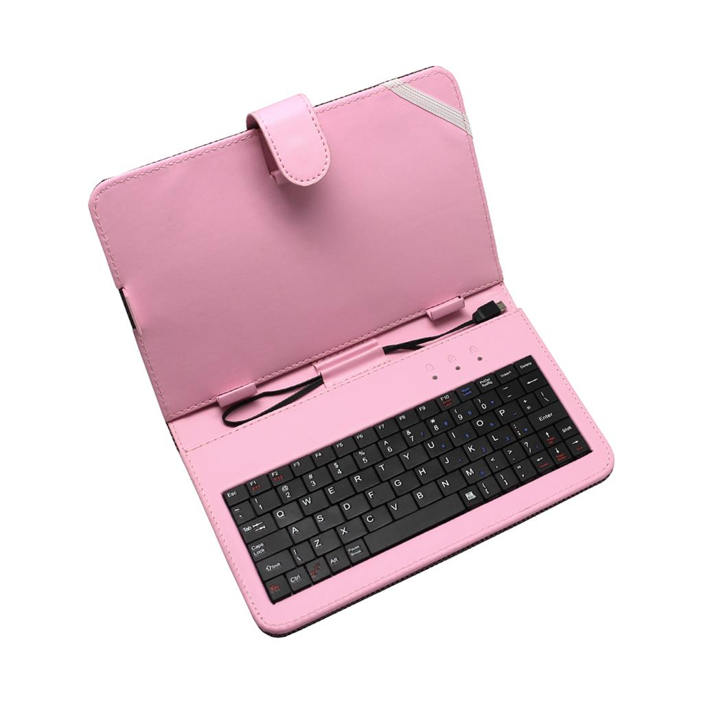 ART AB-101E pouzdro + micro USB klávesnice pro TABLET 7'' růžové