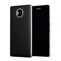 Mozo zadní kryt kožený pro bezdrátové nabíjení pro Lumia 950 XL, Black Silver