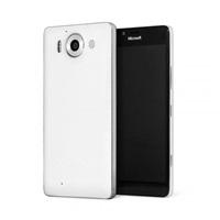 Mozo zadní kryt kožený pro bezdrátové nabíjení pro Lumia 950, White Silver