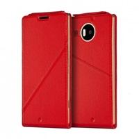 Mozo flipový kryt kožený Notebook pro bezdrátové nabíjení pro Lumia 950 XL, Red