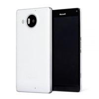 Mozo zadní kryt kožený pro bezdrátové nabíjení pro Lumia 950 XL, White Silver
