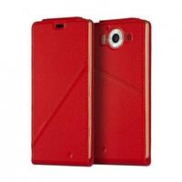 Mozo flipový kryt kožený Notebook pro bezdrátové nabíjení pro Lumia 950, Red