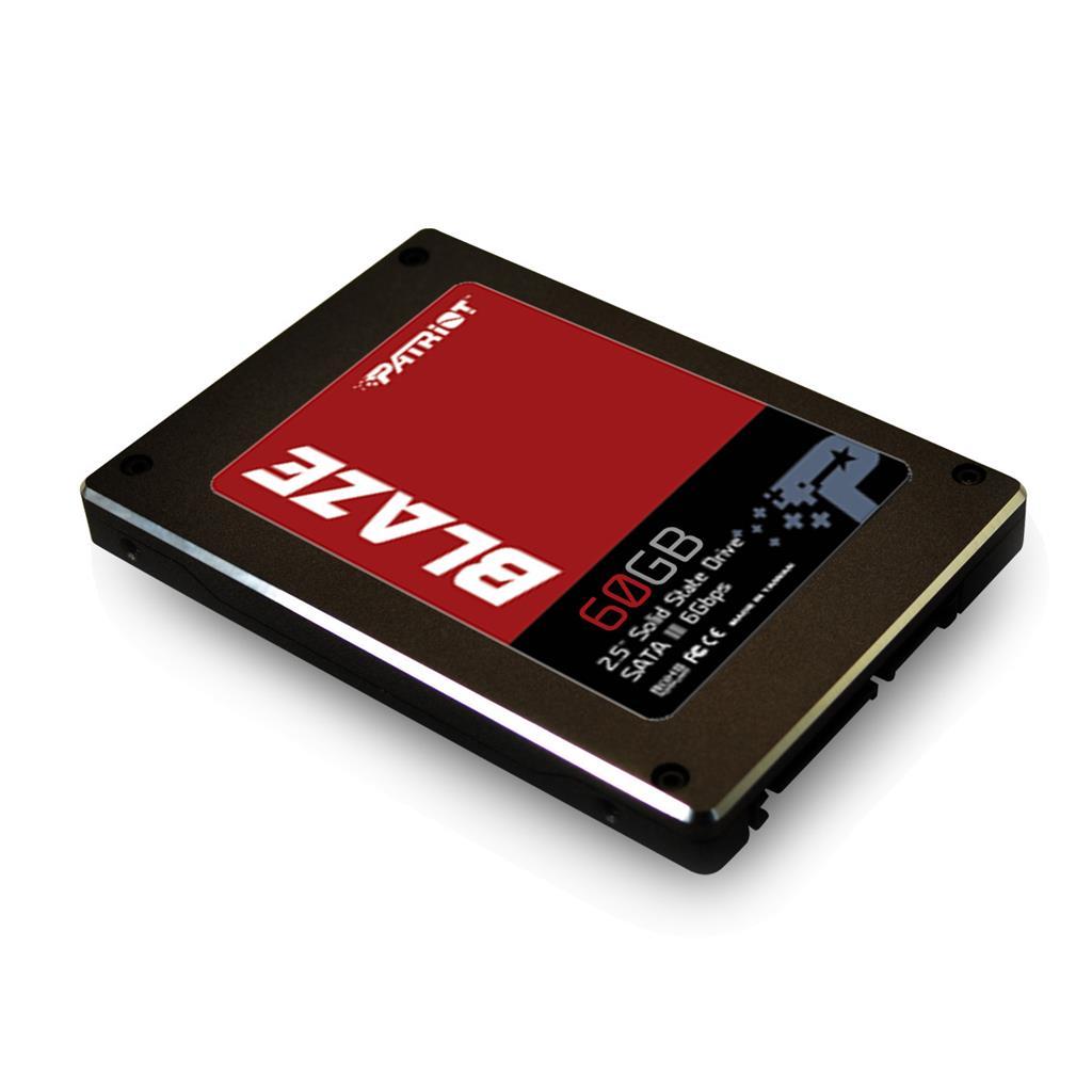 Patriot SSD Blaze 60GB SATA III 6Gb/s (čtení/zápis;530/430MB/s)IOPS 85K