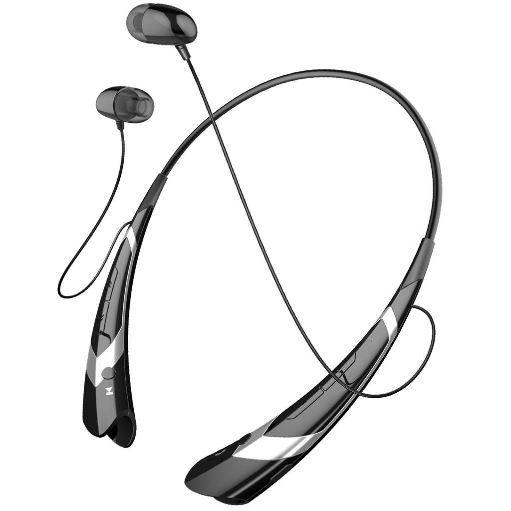 ART AP-B21-S Bluetooth sluchátka s mikrofonem černo-stříbrná (RING) sport