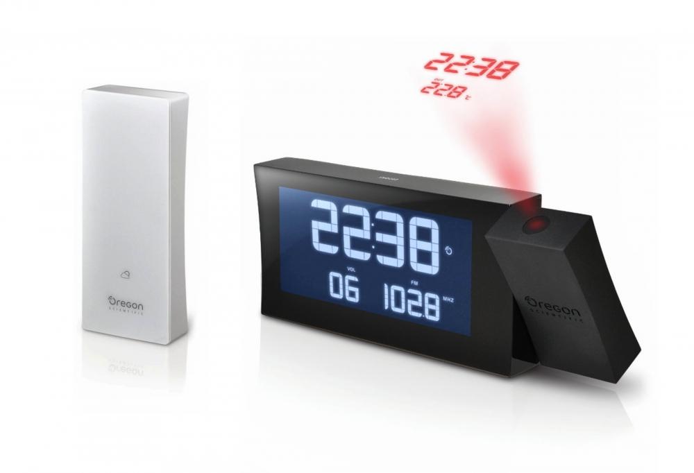 Digitální budík, projekce, rádio RRM222PBK PRYSMA