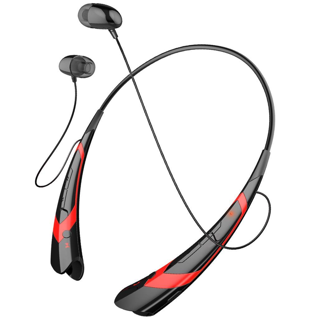 ART AP-B21 Bluetooth sluchátka s mikrofonem černo-červené (RING) sport