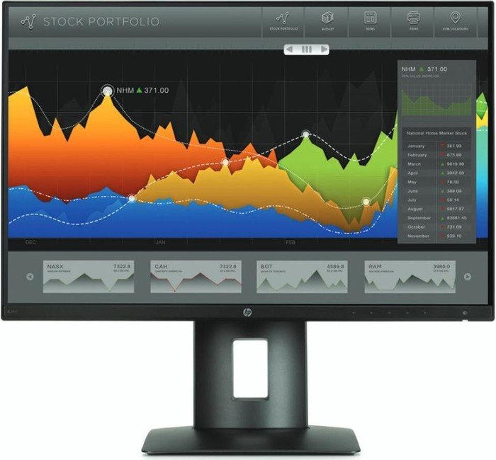 "HP LCD Z24nf Monitor 23.8"" wide (1920x1080),IPS, 16:9,250nits, 8ms, 1000:1,DisplayPort, DVI-D,MHL/HDMI,4xUSB"